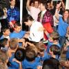 Cien niños de Escacena que ya siempre hablarán de la tarde de Huelva...