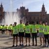 Andrés Romero y su equipo, en la Carrera Solidaria contra el cáncer infantil de Sevilla