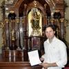 Andrés Romero llevará consigo en Sevilla a la Virgen de la Cinta