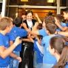 Los niños de Escacena se volcaron otra vez con Andrés Romero