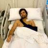 Andrés Romero, intervenido para reducir la fractura de la clavicula